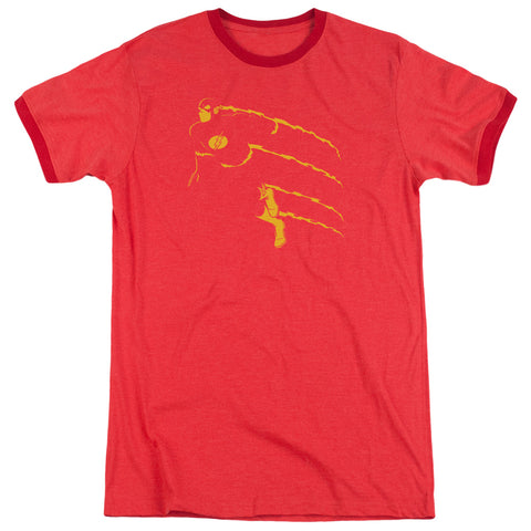 The Flash Flash Min Men's 30/1 Heather Ringer 50 50 Poly SS T