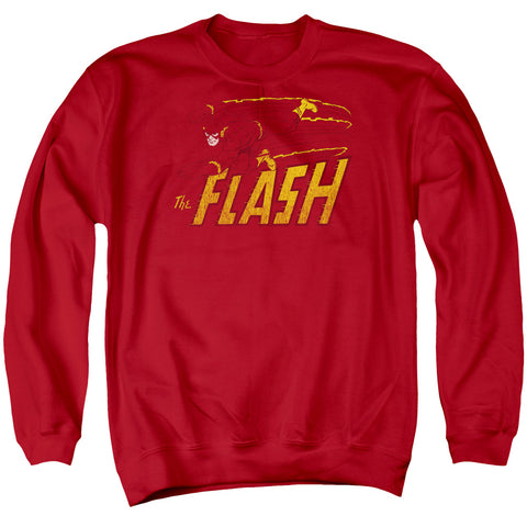 The Flash Flash Speed Distressed Men's Crewneck 50 50 Poly LS T