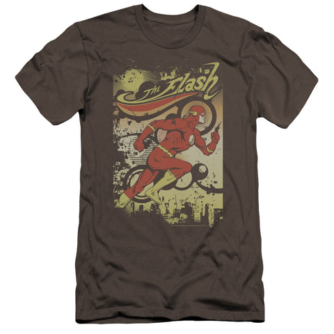The Flash Just Passing Through Men's Ultra-Soft 30/1 Cotton Slim SS T
