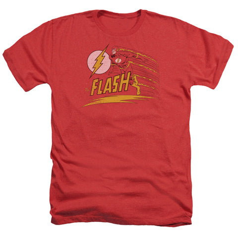The Flash Like Lightning Men's 30/1 Heather 60 40 Poly SS T