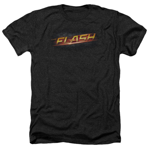 The Flash Logo Men's 30/1 Heather 60 40 Poly SS T