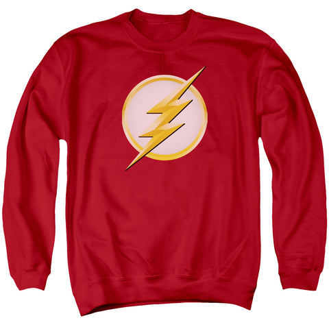 The Flash New Logo Men's Crewneck 50 50 Poly LS T