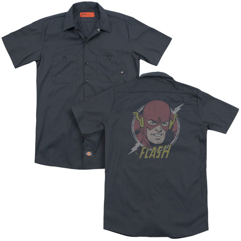 The Flash Vintage Voltage(Back Print) Men's Cotton Poly SS Work Shirt