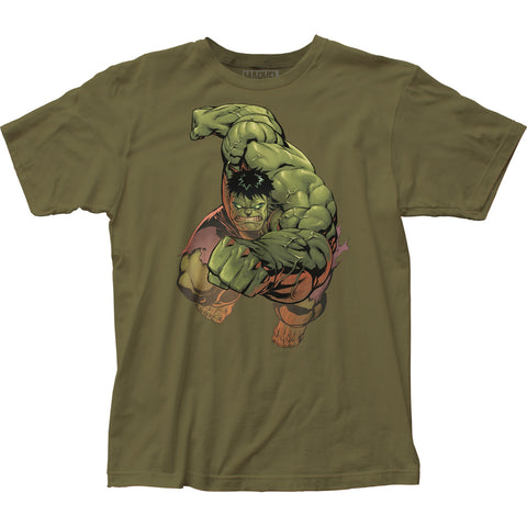The Incredible Hulk Punch fitted jersey tee - Men's - 100% Cotton