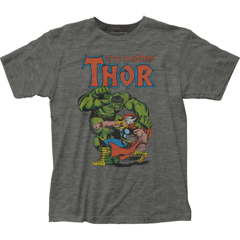 Thor vs. Hulk fitted jersey tee - Men's - 65% Poly 35% Cotton
