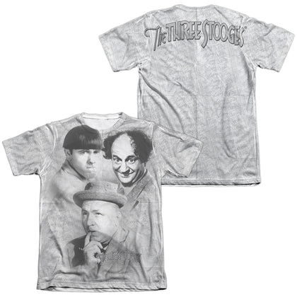 Three Stooges Signature (Front/Back Print) Men's Regular Fit Poly Cotton SS T