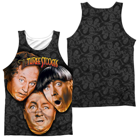 Three Stooges Stooges All Over Men's Regular Fit Polyester Tank Top