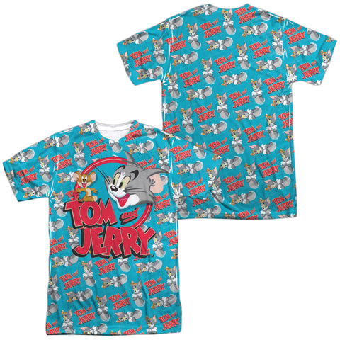 Tom And Jerry Double Trouble (Front/Back Print) Men's Regular Fit Polyester SS T