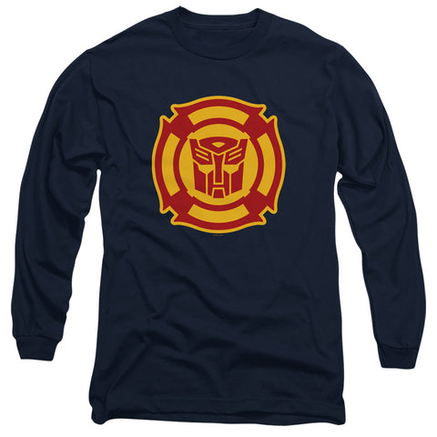 Transformers Rescue Bots Logo Men's 18/1 Cotton LS T
