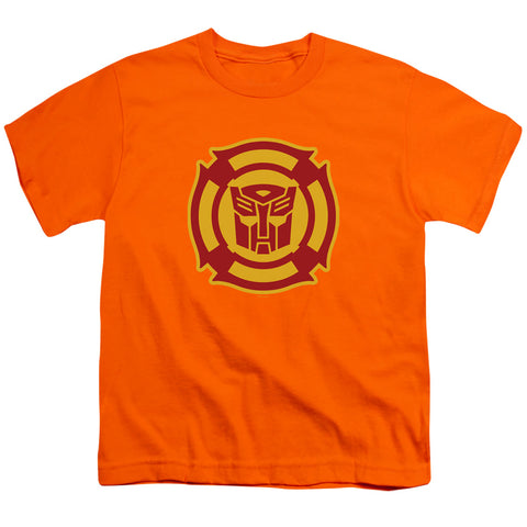 Transformers Rescue Bots Logo Youth 18/1 100% Cotton SS T