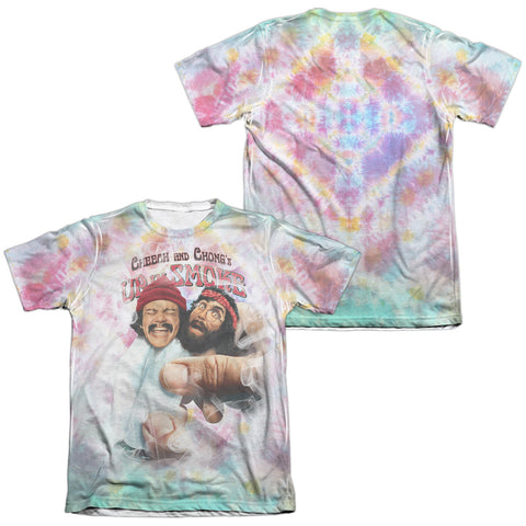 Up In Smoke Fried Tie Dyed Men's Regular Fit Poly Cotton SS T