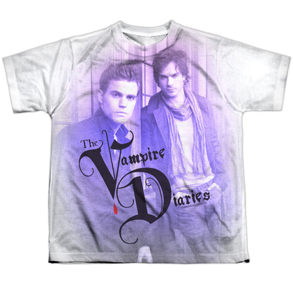 Vampire Diaries Stefan And Damon Youth Regular Fit Poly SS T