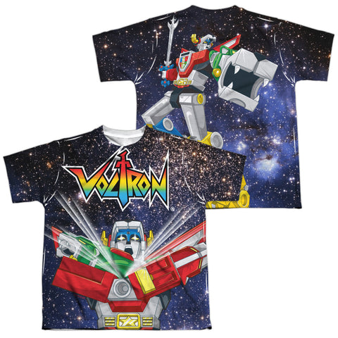 Voltron Space Defender (Front/Back Print) Youth Regular Fit Poly SS T