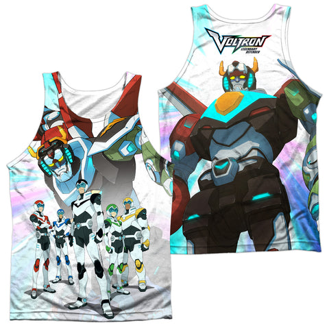 Voltron Team (Front/Back Print) Men's Regular Fit Polyester Tank Top