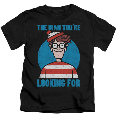 Where's Waldo Looking For Me Juvenile 18/1 Cotton SS T