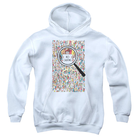 Where's Waldo No Cheating Youth Cotton Poly Pull-Over Hoodie