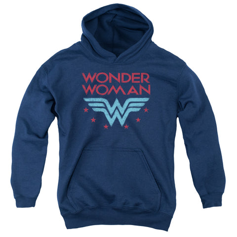 Wonder Woman Wonder Stars Youth Cotton Poly Pull-Over Hoodie