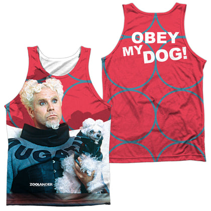 Zoolander Mugatu (Front/Back Print) Men's Regular Fit Polyester Tank Top
