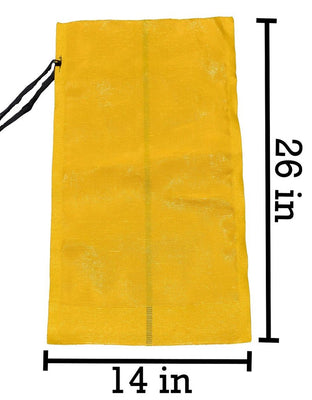 MONOFILAMENT BAG YELLOW EMPTY
