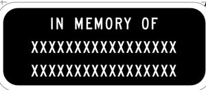 IN MEMORY OF XXX - 2 PERSONS S35-2(CA)