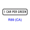1 CAR (2 CARS) PER GREEN R89(CA)