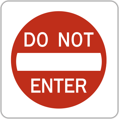 DO NOT ENTER Activated Blank-out R5-1ABO