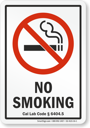 NO SMOKING PREP-002CA