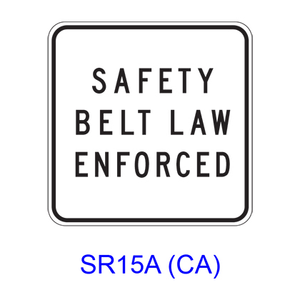 SAFETY BELT LAW ENFORCED SR15A(CA)