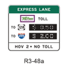 Priced Managed Lane Toll Rate [symbol] R3-48a
