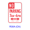 No Parking Specific Hours R30A(CA)