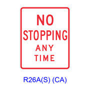 NO STOPPING ANY TIME R26(S)(CA)