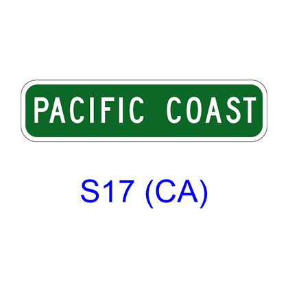 Bicycle Route Name Marker S17(CA)