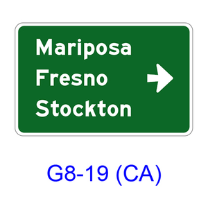 Destination & Street Name w/ arrow G8-19(CA)
