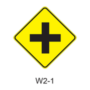 Intersection Warning W2-1