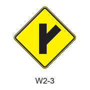 Intersection Warning W2-3