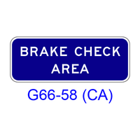 BRAKE CHECK AREA G66-58(CA)