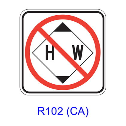 Hazardous Waste Prohibited [symbol] R102(CA)