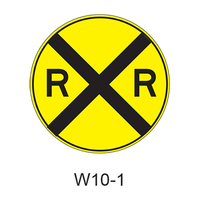 Grade Crossing Advance Warning W10-1