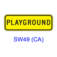 PLAYGROUND [plaque] SW49(CA)
