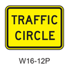 TRAFFIC CIRCLE [plaque] W16-12P