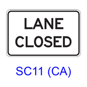 LANE CLOSED SC11(CA)