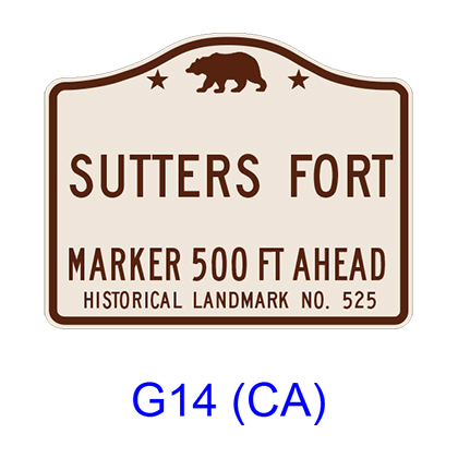 Advance Historical Landmark [symbol] G14(CA)