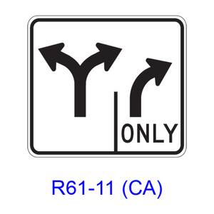 Intersection Lane Control R61-11(CA)