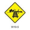 Low Ground Clearance Grade Crossing W10-5