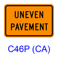 UNEVEN PAVEMENT [plaque] C46P(CA)