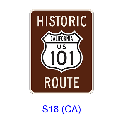 Historic Route [symbol] S18(CA)