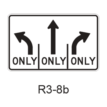 Advance Intersection Lane Control R3-8b