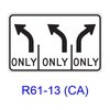 Intersection Lane Control R61-13(CA)