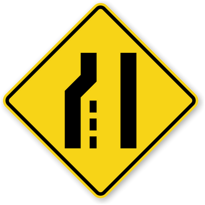 LEFT LANE ENDS 48