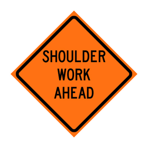 SHOULDER WORK AHEAD  C24